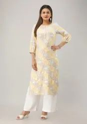 Causal Wear Gota Work Rayon Kurtis