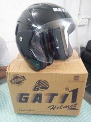Youth Black Half Face Helmet, Size: MD