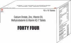 Calcium Orotate Zinc Vit D3 Methylcobalamin & K2-7 Tablets