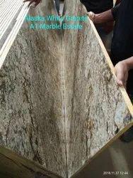 Polished Alaska White Granite, For Flooring, Thickness: 15-20 mm