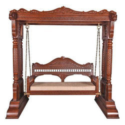 Teak Wooden Carved Swing