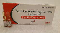 Atropine Sulfate Injections USP 0.6mg/ml