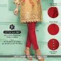 Indian Ethnic Designer Cotton Silk Red Pant