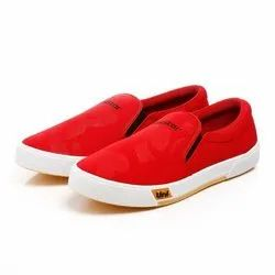 Mens Red Sneaker Canvas Shoes