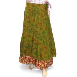 Wrap Around Saree Silk Skirt