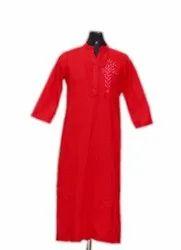 Indian Handmade Kurti Plain Solid Women's Dress