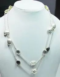 925 Sterling Silver Multistone High End Furnished Necklaces