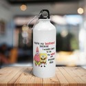 Printed Sports White Sipper / Water Bottle