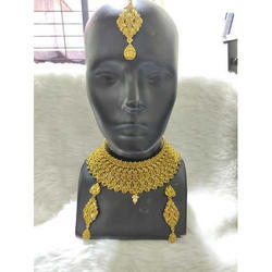 Shreeji Golden Choker Necklace Set