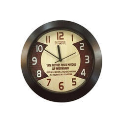 Brown Promotional Round Clock