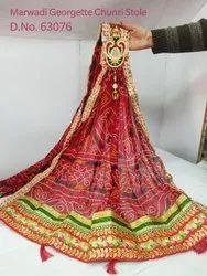 Marwadi Bandhej Stole