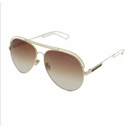 Double Metal Frame Brown Double Shade Unisex Sunglasses