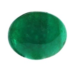 Natural Cabochon-Cut Brazil Emerald