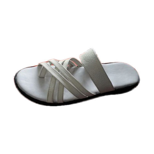 91d83af2c777a R. K. Leather Mens White Leather Slippers, Size: 7 (uk), Rs 450 ...