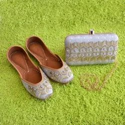 Punjabi Ethnic Jutti With Matching Clutch