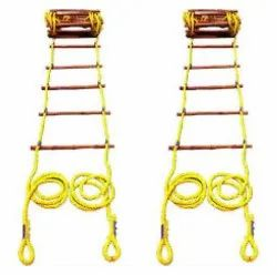 Yellow Polypropylene Safety Rope Ladders, For Construction