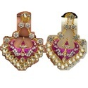 Meenakari CZ Earrings