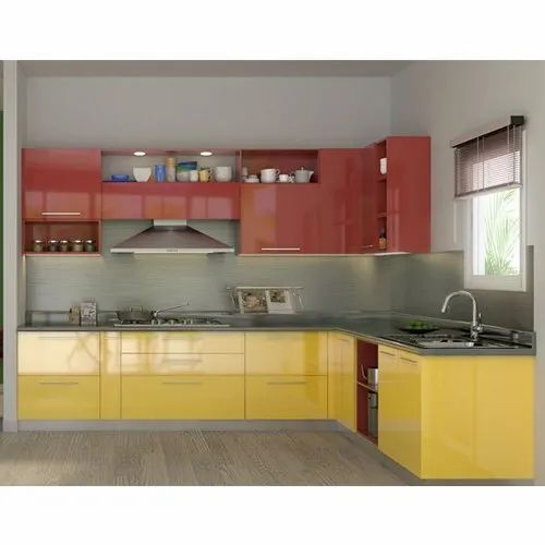 Killer Interiors Wooden Modern L Shaped Modular Kitchen Warranty 1 5 Years Kitchen Cabinets Rs 1050 Square Feet Id 21288945630