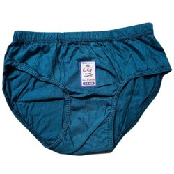 Cotton Navy Blue Plain Kids Underwear, Size: 32 Also Available In 34 And 36