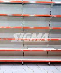 Sigma Ivory Steel Wall Racks, 5 Shelves