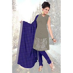 Bandhej Grey Print Suit