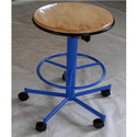 Revolving Wooden Top Stool
