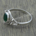 925 Sterling Silver Handmade Jewelry Emerald Gemstone Ring
