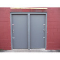 Gray Metal Fireproof Door