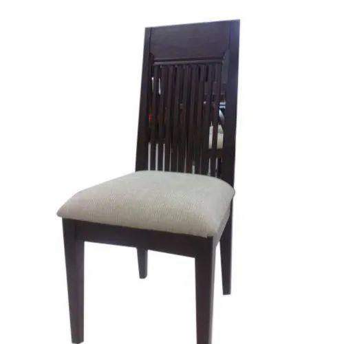Brown Teak Wood Dining Chair, No Of Legs: 4