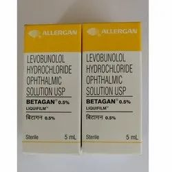 Betagan 0.5% Allopathic Levobunolol Hydrochloride Ophthalmic Solution USP, Packaging Type: Box, Packaging Size: 5 Ml
