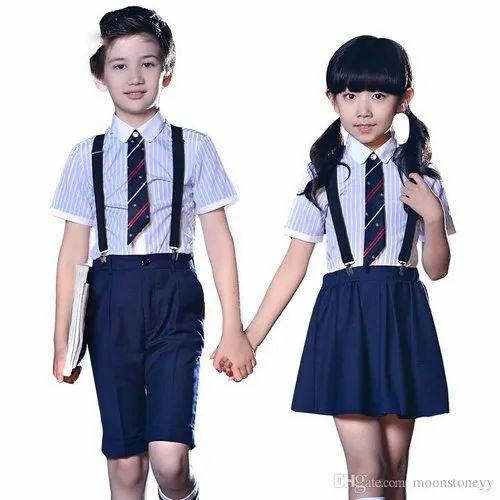 e9bafac1726f Cotton Summer Kids School Uniforms