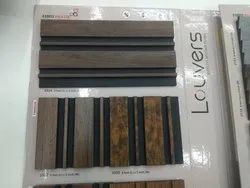 8' 5 Louvers Charcoal Panel Euro Pratik Interior Products, For Wall Paneling & Ceiling, Thickness: 10MM