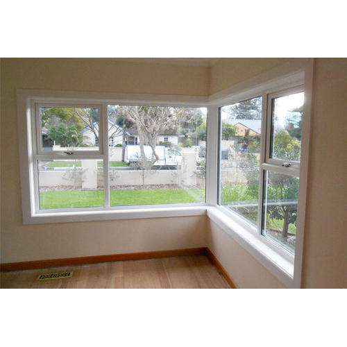 Hinged White UPVC Corner Window, Rs 480 /square Feet