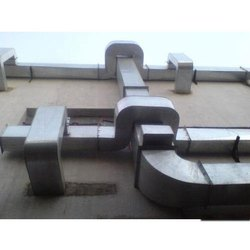 Silver Stainless Steel HVAC Control Duct System