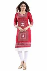 Formal Wear Regular Ladies Kurtis in Cotton, Age Group: Adult, Features: Good
