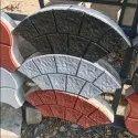 Concrete Fan Shaped Paver Block, For Landscaping
