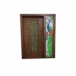 Brown 8 Feet Designer Flush Doors, For Home