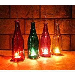 Candle Hanging Bottle Lamp