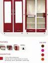 Metal Multicolor Two Door Almirah With Mirror - Raja Rani Series