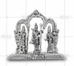 Silver Plated Ram Darbar Idol Metal
