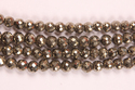 Pyrite Round Faceted Beads