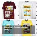 Cotton Casual Wear Mens Round Neck Printed T Shirt