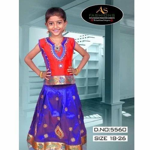 3e1f0b2ac 18-26 Cm AS Fashion Fancy Pattu Pavadai, Rs 445 /set, AS Fashion ...
