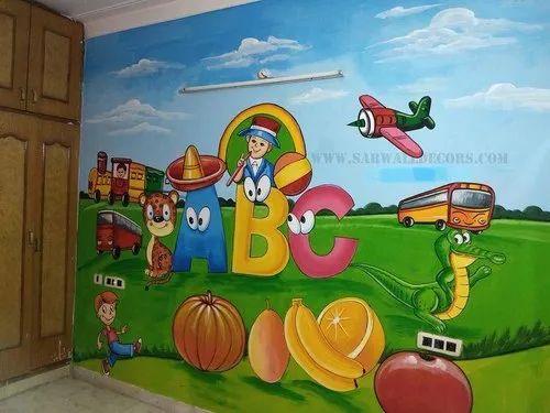 Kindergarten School Wall Painting