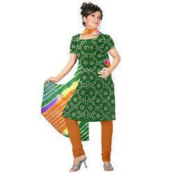 Green Fancy Bandhani Suit