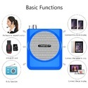 Portable Amplifier With Mic Wireless Rechargeable Device PA