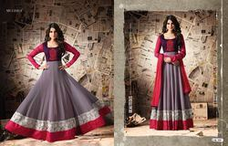 Double Border Anarkali Dress