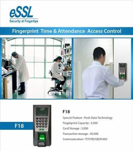 Access Control System ESSL F18  Fingerprint Attendance
