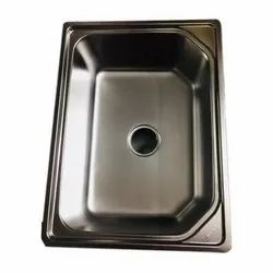 Silver Stainless Steel Single Bowl SS Kitchen Sink