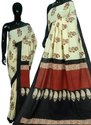 Girraj Printers Casual Wear Chanderi Silk Saree With Blouse